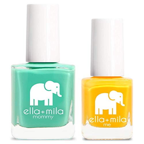 ella+mila Nail Polish, mommy&me set - I Mint It + Wheels on the Bus