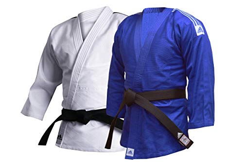 adidas Judo-Uniform, Trainings-Uniform, 500 g, Trainings-Judoanzug – 500 g Kampfsport-Studenten, J500, weiß, 180