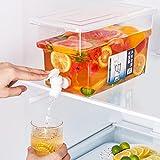 5L Wasserkrug Mit Wasserhahn Zitronensaft, Kaltwasserflasche, Getränkespender Mit Wasserhahn,...