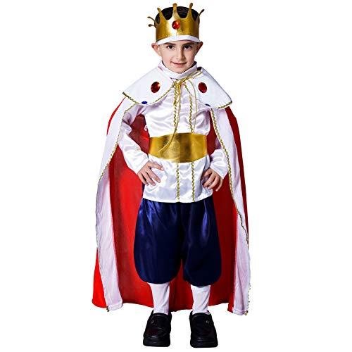 Boy's Deluxe Regal King Costume (L(10-12Y))