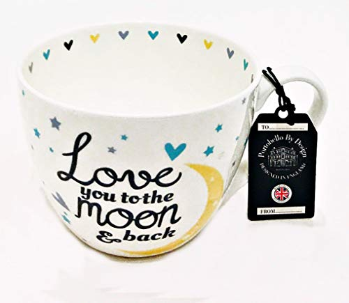 Portobello by Inspire Bone China Cup Mug Love You To The Moon