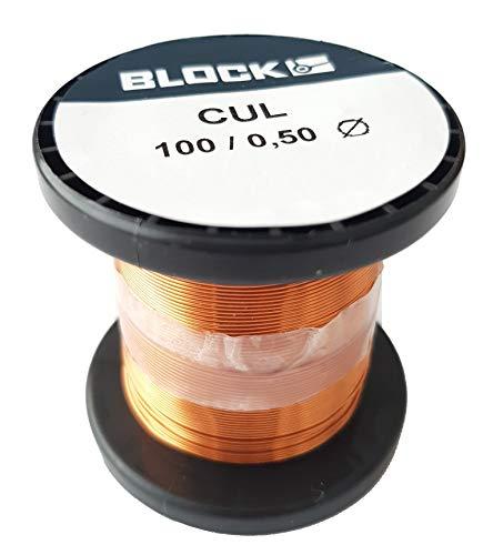 Block Kupferlackdraht Basteldraht Schmuckdraht Kupferdraht Kupfer-lackdraht Wickeldraht Kupfer Draht Cul 100/0.50