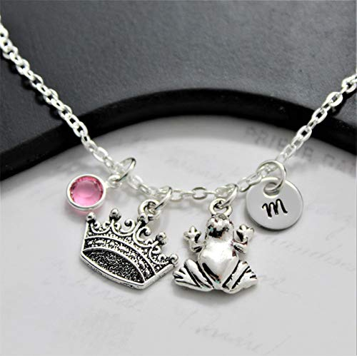 Princess and the Frog Necklace - Frog Princess Birthday Party - Frog...