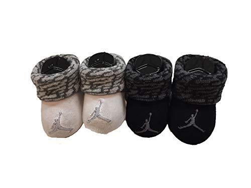 Nike Infant Baby Futura Booties (2 Pair) (Camo Grey(LJ0104-023)/Black, 0-6 Months)