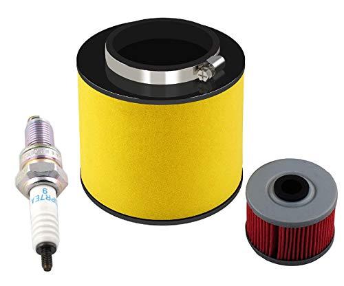 Podoy TRX350FE Air Filter for Compatible with Honda Rancher TRX350TE 17254-HN5-670 with Oil Filter Spark Plug TRX350FM TRX350FM 2000-2006