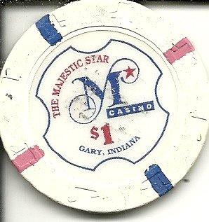 $1 majestic star casino chip gary indiana
