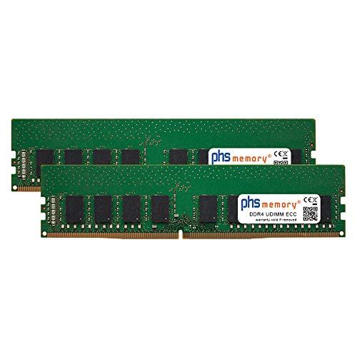 PHS-memory 32GB (2x16GB) Kit RAM modulo per Supermicro X11SAE-M DDR4 UDIMM ECC 2400MHz PC4-2400T-E