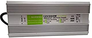 Pearlight LED Power Supply 200w DC 12v,Ac90-130V Driver Transformer Waterproof IP67 Suitable