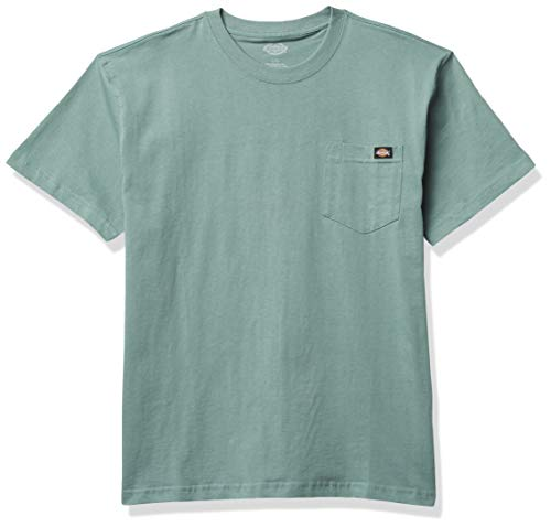 Dickies Short Sleeve Heavyweight Crew Neck Pocket T-Shirt Camiseta Henley, Azul Ahumado, XXL para Hombre