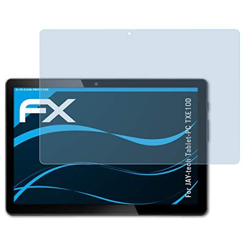 atFolix Schutzfolie kompatibel mit Jay-tech Tablet-PC TXE10D Folie, ultraklare FX Displayschutzfolie (2X)