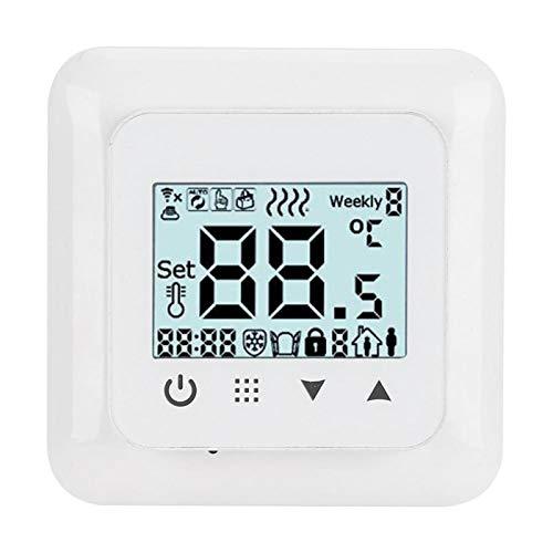 01 Termostato de calefacción, Dispositivo de Control de Temperatura con Pantalla LCD, termostato doméstico para Sistema de calefacción por Suelo Radiante Accesorios de(WiFi)