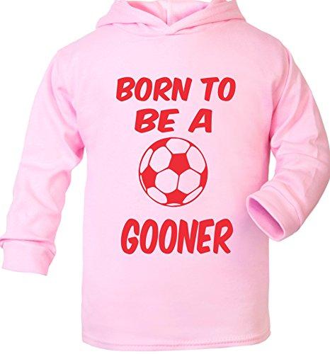 Print4U Born to Be A Gooner Supersoft bébé Sweat à Capuche - Rose - 6 Mois