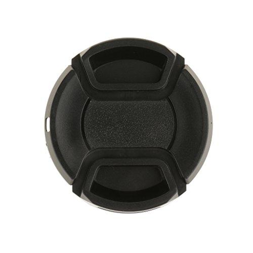 MagiDeal Tapa de Objetivo Trasera Delantera para Canon Nikon Sony Camera Ultra Violet Accesorios - Negro-52mm