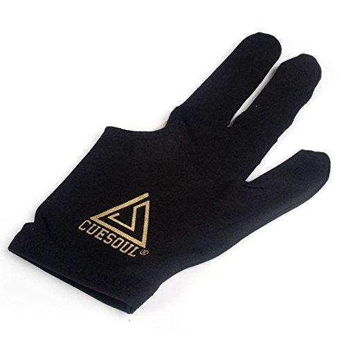 CUESOUL 10pcs / Set 3 Finger Gloves Biliardo Snooker Cue Guanti (Nero)