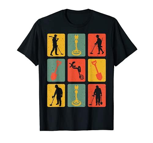 Retro Vintage Metallsonde Sondengeher Sondler Metalldetektor T-Shirt