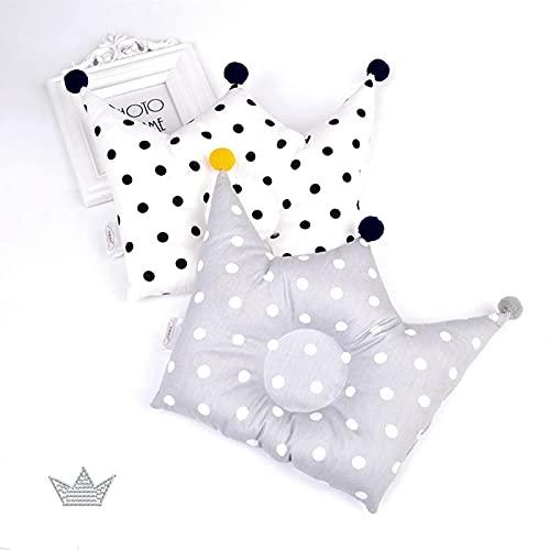 2 uds, Almohada nórdica con forma de INS, bonito cojín de respaldo con forma de corona, 0-1 años, almohada correctora anticabeza, ropa de cama para bebé