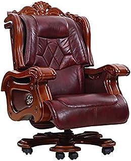 HIZLJJ Ejecutivo giratoria ajustable silla giratoria de oficina Silla con apoyabrazos Ejecutivo soporte lumbar ergonómico escritorio silla reclinable de gama alta de oficina Silla giratoria engrosamie