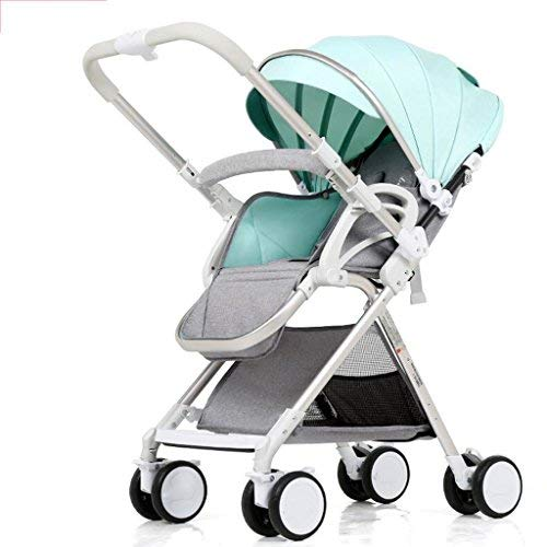 Affordable 3-in-1 Stroller High Landscape Portable 4-Wheel Collapsible Two-Way Shock Absorber Four S...