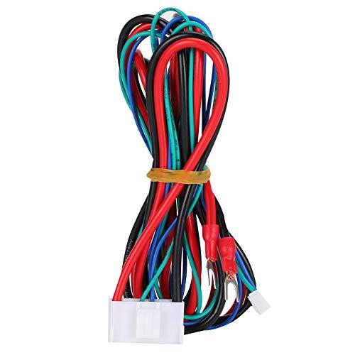 Cable de alimentación de la cama calefactora de 90 cm para la impresora 3D Anet A8 A6 A2 A3 E12 E10, cama calefactora de cable ondulado Accesorios de la impresora 3D del cable de alimentación con mate