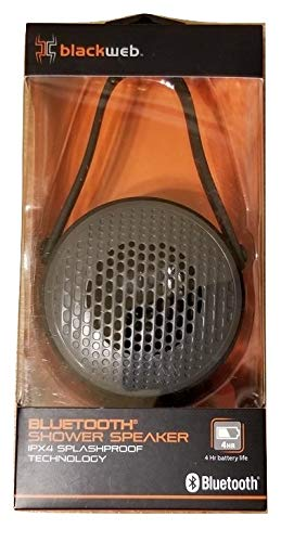 Blackweb Bluetooth Shower Speaker, IPX4 Splashproof, Water Resistant