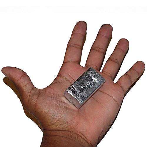 LCLrute Niedriger Schmelzpunkt-Metallzauberer liefert 5/10 / 20Grams Ga reines Gallium 99.99%, das in Ihrer Hand verfeinert Wird Magie 29.76 C pädagogisches DIY Spielzeug (20g)