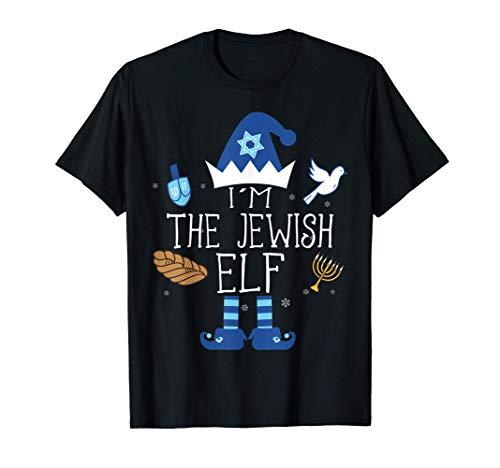 Happy Hanukkah Jewish Elf Family Group Christmas Pajama Gift T-Shirt