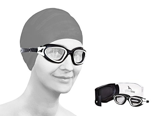 SealBuddy PV10 Panoramic View Goggle Anti-fog and scratch resistant lens (White, Clear)