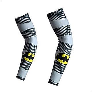 اكمام تبريد للذراعين للحماية من الاشعة فوق البنفسجية بطبعات باتمان عصرية لركوب الدراجة والتنزه والغولف