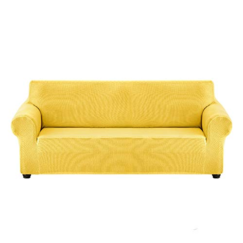 Funda De Sofá, para Mascotas Funda De Sofá Antisuciedad, para Sala De Estar Tela EláStica De Spandex Super Suave, Protector De Muebles Antideslizante Que Se,Light Yellow,S