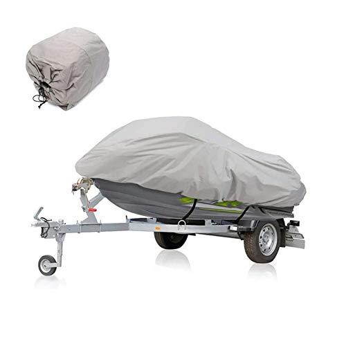 Funda de Lancha Motora Jet Ski Cover, Impermeable Anti-UV Watercraft Jet Ski Cover para Motos De Agua 136'' A 145'' Gris