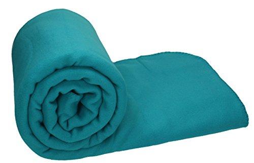 Betz Maxi Fleecedecke Kuscheldecke Farbe Petrol Größe 140x190 cm Qualität 220 g/m²