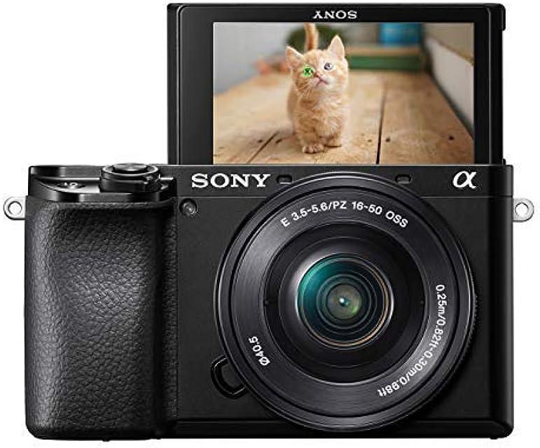 Sony Alpha 6100L - Cámara Evil de 24.2 MP (Sensor APS-C CMOS Exmor R procesador Bionz X 425 Puntos de AF a 0.02 s Eye AF grabación 4K) - Kit Cuerpo con Objetivo SELP1650