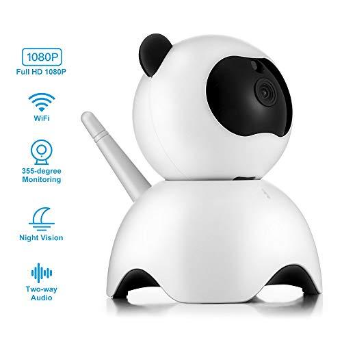 MRXUE Huisdier Camera - Baby Monitor 1080P Full HD Draadloze Beveiligingscamera die verbinding maken met iPhone Android WiFi Home Camera, Gratis Geef SD-kaart: 32G