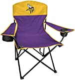 Rawlings NFL XL Lineman Tailgate and Camping Folding Chair, Purple, White, One-Size