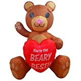 Joiedomi 6 FT Tall Teddy Bear with Heart Valentine Inflatable Yard Decoration
