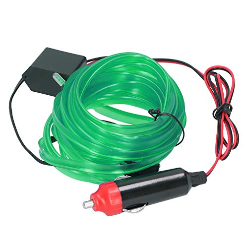 Seilrohrstreifen, Auto-LED-Streifen, flexible Innenbeleuchtung des Autos, Energieeinsparung für Auto-Auto Langlebig 5 m(green)