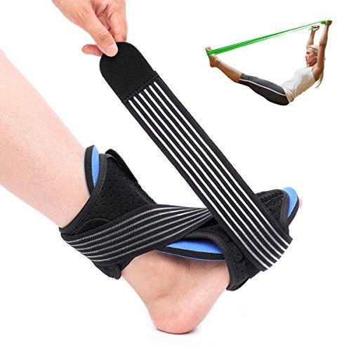 OUTERDO Plantar Fasciitis Night Splint Brace - Adjustable Dorsal Night Splint Foot Drop Orthotic Brace for Both Feet, Effective Relief from Plantar Fasciitis Pain, Foot Back Sprain and Strain(Green)