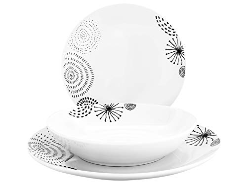 Home 734915 Swing - Vajilla de 18 piezas, porcelana, Coupe
