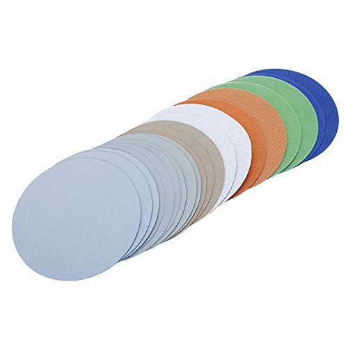 Llija Paper 3000/5000/7000/10000 Grain Assortment Dry Sandpaper / Water Hook and Loop Discs 125mm 20pcs / lot