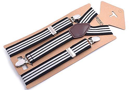 Yuyudou Klassieke Y-vorm bretels voor mannen, 0,98 inch brede bretels, bretelriem met clip