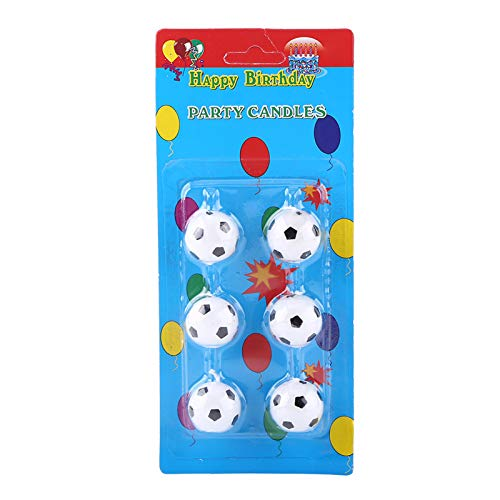 Zaraddia Soccer Cake Candle,Zaradi 6Pcs Cute Soccer Ball Football Birthday Party Cake Candles Decorations Supplies For Kids