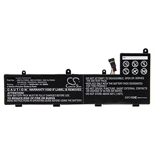 vhbw Batería Recargable Compatible con Lenovo ThinkPad Yoga 11e 20GA000NUS, 11e 20GA000QUS Notebook (3650 mAh, 11,25 V, polímero de Litio)