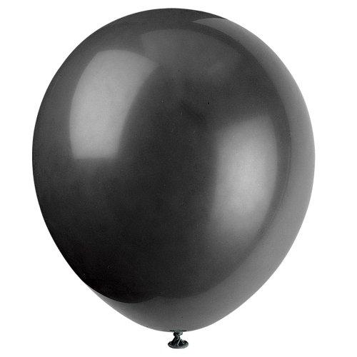 Unique Industries Balloons, 72ct, Black