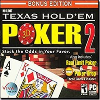 Viva Media No Limit Texas Hold'Em 3D Poker 2 (plus 2 games) Cards & Casino for Windows for Adults