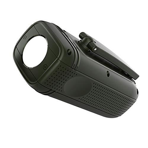 Queenser Gerador multifuncional de manivela com bateria de 1800mAh Lanterna portátil com fonte de alimentação de emergência para viagens ao ar livre