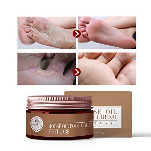MAOJIE Fußcreme Pferdeöl Fußcreme Feuchtigkeitsspendender Juckreiz Antimykotische Peeling-Fußpflege