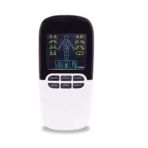 HUIXINLIANG Dual Canal TENS EMS Unidad 8 Modos Estimulador Muscular para la Terapia de Alivio del Dolor, masajeador de Pulso electrónico Masajeador Muscular con 8 Almohadillas