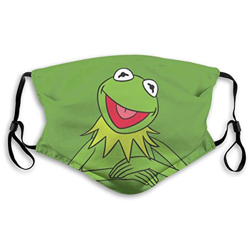 Mouth Mask can replace activated carbon filter M nose clip dust maskKermit The FrogUnisex Face Mouth Mask for Kids Teens Men Women S(Kids)