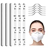 200 PCS Nose Bridge Strips for Mask, Aluminum Metal Nose Strip,Metal Strips Straps Adjustable Nose Clips Mask Wire DIY Making Accessories for Sewing Crafts