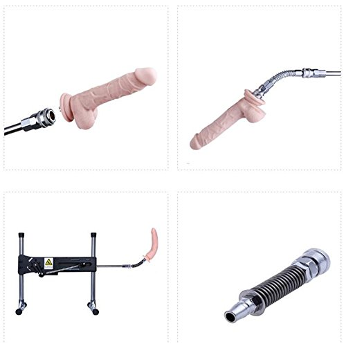 Rabusion Health For Sex Machine Gun Spring Connector Extended Bending Dildo Professional Sex Machine Accessories